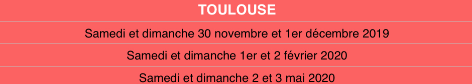 Tablo toulouse date